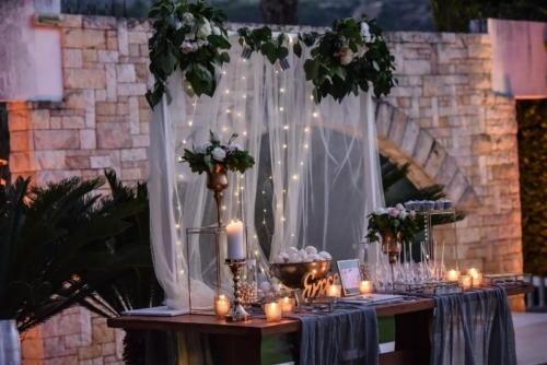 Korinthian palace Wedding candy bar γάμος